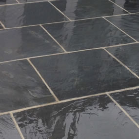 Black Slate Sawn Paving