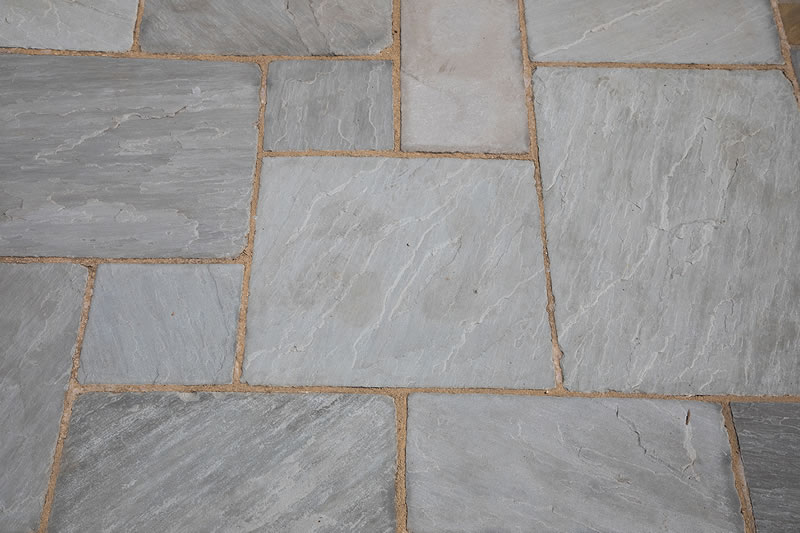 Grey Tumbled Sandstone Paving