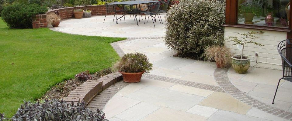 Tumbled Raj Sandstone Patio